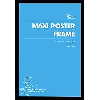 REINDERS Bilderrahmen für Maxi-Poster 61 x 91,5 cm - Holzoptik Schwarz Modern