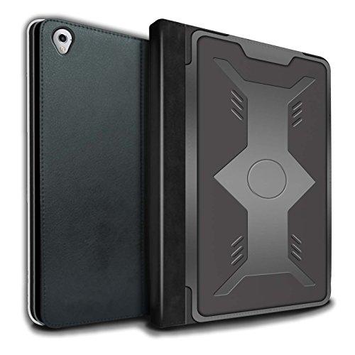 Stuff4® PU-Leder Hülle/Case/Brieftasche für Apple iPad Pro 9.7 Tablet/Schild Muster/Rüstung Kollektion