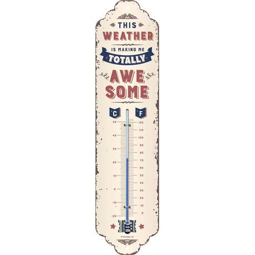 Nostalgic-Art 80328 - Awesome Weather , Retro Thermometer , Innen , Vintage Wand-Dekoration