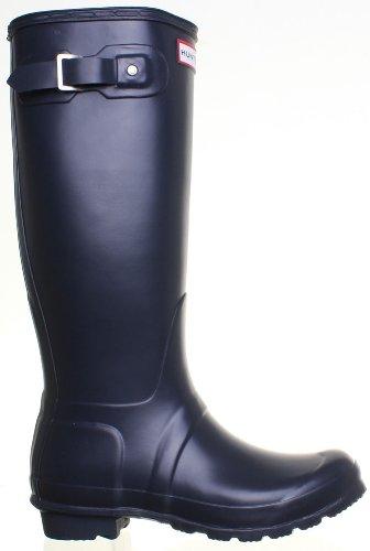 Hunter , Bottes en caoutchouc/bottes de pluie mixte adulte Bleu Marine
