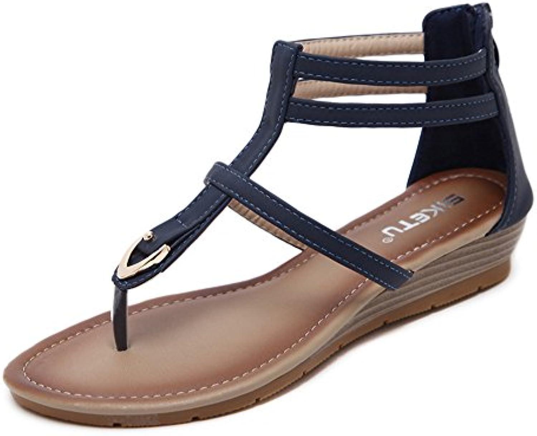 la la la pente shymamamiya confortable antidérapante métal de grande taille des sandales de plage (couleur: bleu, taille: 6,5 uk) b07f68y4jp parent | Big Liquidation  dd9687