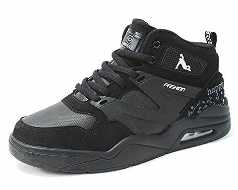 Hommes Basketball Sneakers 2017 Chaussures De Course À Air Nouveau Coussin D'automne Chaussures D'athlétisme Extérieures À L'extérieur ( Color : Black , Size : 39 )