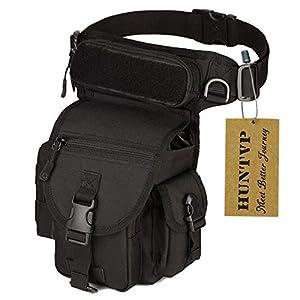 Huntvp® Taktisch Beintasche Militär Beinbeutel MOLLE Hüfttasche Sport Tactical Leg Bag Armee Beintaschen Wasserdicht…