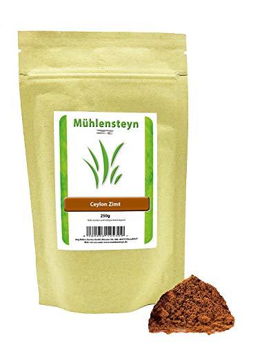 Ceylon Zimt gemahlen 250g von Mühlensteyn mit wenig Cumarin Spitzen Qualität - 100% echtes Ceylon Zimt-Pulver