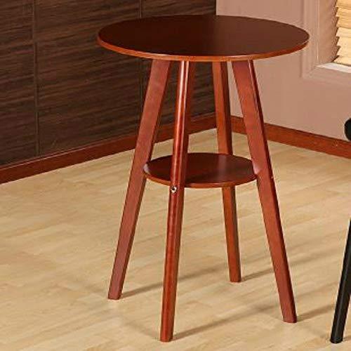 nobrand WangLiJiaFDSGB Jklhjk Massivholz Bartisch Doppel Runder Couchtisch (Holzfarbe) (Color : Brown)