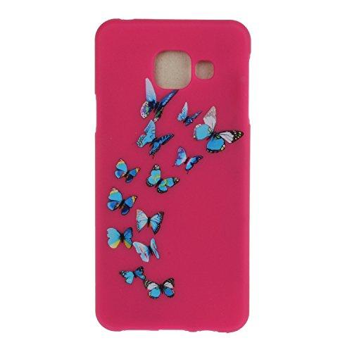 Meet de Rouge Etui / Cover / Case / Coque / Protection Coque Étui Case Cover Coque TPU Housse pour Samsung Galaxy A3 (2016) A310 (4,7 Zoll) - Papillon