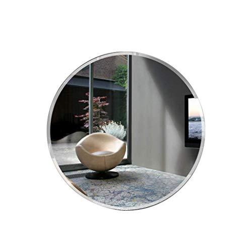 Klar Abgeschrägten Glas Licht (ACZZ Abgeschrägte Spiegelstärke 0.5Cm runder rahmenloser Innenschlafzimmer-Portal Hd-Kosmetikspiegel-Wandbehang,55CM)