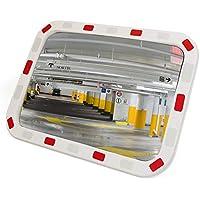 PrimeMatik - Espejo Convexo Rectangular de señalización Seguridad y vigilancia 60x40 cm