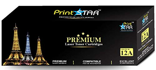 Print Star High Yield 12A Single Colour Black Laser Toner Cartridge Replacement of HP Q2612A compatible with HP LaserJet 1010, 1012, 1015, 1018, 1020, 1022, 1022n, 3020, 3030, 3050, 3052, 3055, M1005, M1319f etc.