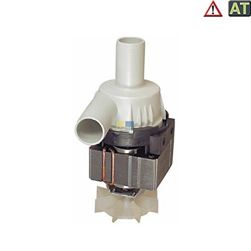 Ablaufpumpe Pumpe mit Pumpenstutzen 80W linkslauf Waschmaschine wie Miele Bauknecht 481236018378