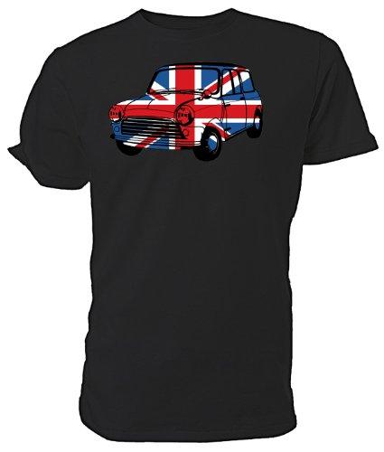 Maglietta con scritta Best of British Union Jack da auto Mini Nero (nero)