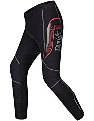 Ciclismo Santic hombres pantalones ajustados, hombre, color Negro - negro, tamaño small