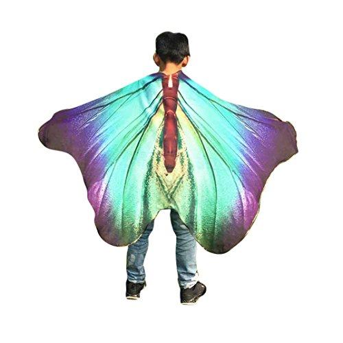 Jungen Mädchen Faschingskostüme Karneval Kostüm schmetterlingsflügel Kostüm Butterfly Wing Cape Kimono Flügel Schal Cape Tuch Pashmina Kostüm Zubehör (Cheshire Cat Kostüm Kinder Jungen)