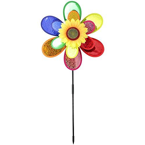 Com-Four Jeu, vent, fleur, Moulin à vent, jolie Impression tous les regards de roue pour votre jardin (1pièce)