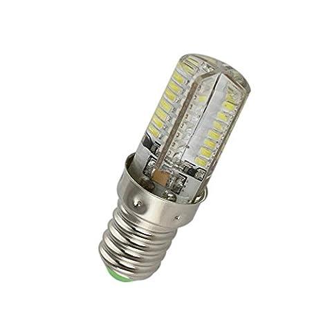 Lugii Cube 3014SMD sans scintillement LED Maïs Ampoule avec Smart Power IC haute lumineux E14220V 64led spot, Blanc froid