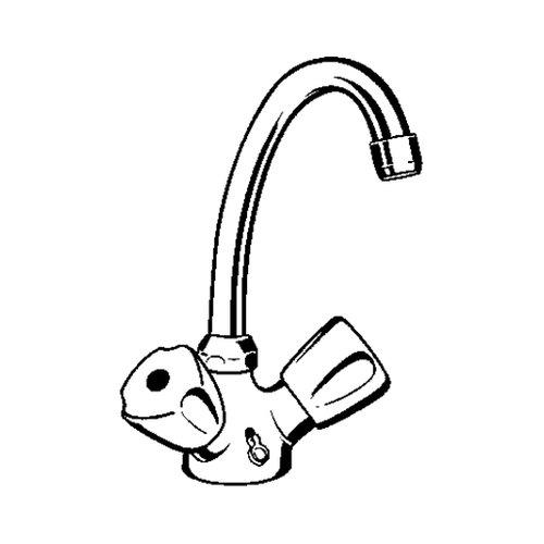 Kludi – Waschtischarmatur, Zweigriffarmatur, schwenkbar, versenkbare Kette, Chrom - 2