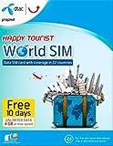Dtac Happy Tourist World SIM Prepaid SIM-Karte mit 4GB Daten LTE und unlimitierten 2G-Daten für 10Tage in 22Ländern