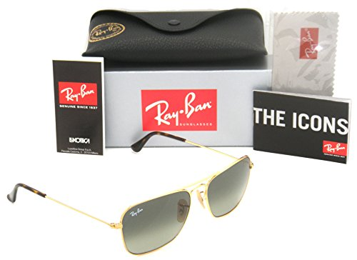 Ray-Ban Caravan Gold Frame / Grey Gradient RB 3136 181/71 55mm Small