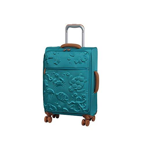 it luggage Aquatic 8 Wheel Lightweight Semi Expander Suitcase Cabin Koffer, 56 cm, 47 liters, Blau (Scuba Blue)