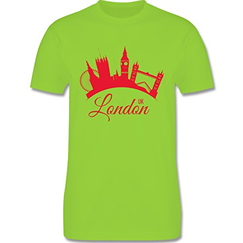 Skyline - Skyline London UK England - Herren Premium T-Shirt Hellgrün