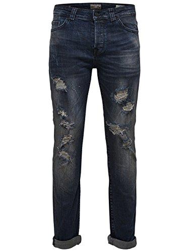 ONLY & SONS - Jeans uomo slim fit loom dark blue breaks 5081 Dark Blue Denim
