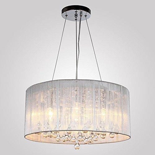 Louvra Lampatario Moderna Lampada a Sospensione Elegante Illuminazione a Soffitto 4 Luci (Lampadine non Incluse)