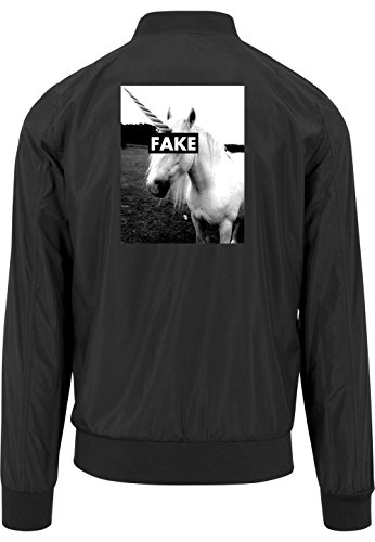 Fake Unicorn Bomberjacke Black Certified Freak-S