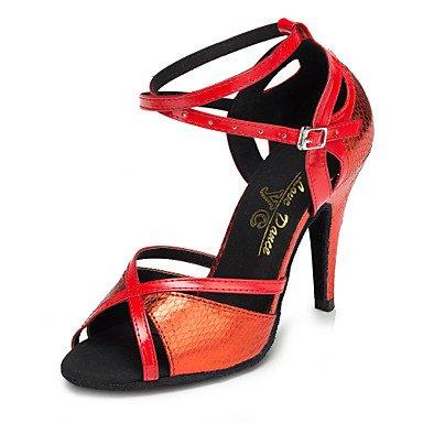 Scarpe da ballo - Non personalizzabile - Donna - Salsa - Stiletto - Stampa/Trama - Rosso Red