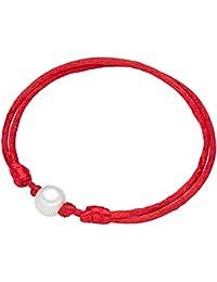 Valero Pearls - Pulsera de satén embellecida con Perlas de agua dulce - Satén - Pearl Jewellery, Pulseras, Pulsera de Satén - 60020024