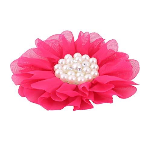 Fuchsia-gürtelschnalle (MiKi&Co Plastik Perlen Dekor Blume Form Kopfbedeckungen DIY Haarklammer Fuchsia)
