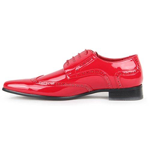 Rossellini  Prato Z2, Chaussures de ville à lacets pour homme red