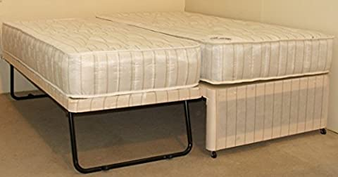 The Eldon Guestbed 3FT Single Damask Divan Guest Bed, underbed lifts up to main bed by Strictly Beds Eldon Guest Bed