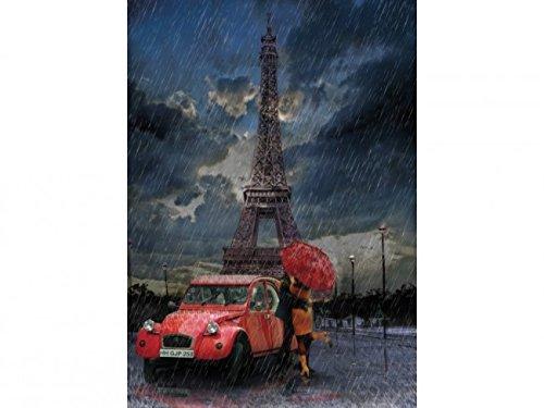 (Heidi heidi4407Eiffelturm und Regen und Love Art Puzzle (1000Teile))