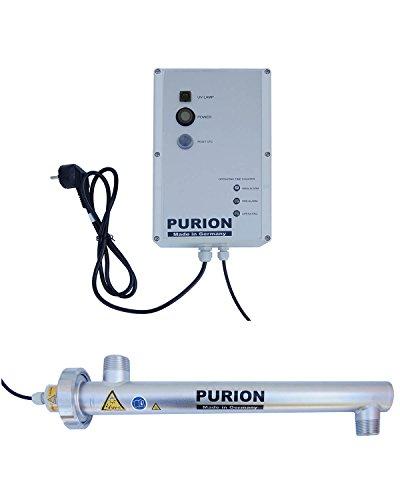 PURION 1000 Wasseraufbereitung mit UV-Anlage für 1.000l/h (PURION 1000 Edelstahl mit Lebensdauerüberwachung)