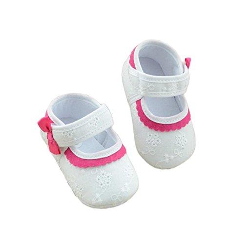 Ularma bébé petite fleur brodée bébé fond mou chaussures fille (11 cm)