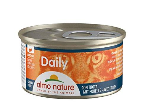 Almo Nature Daily Katzenfutter Häppchen mit Forelle (24 x 85 g) -