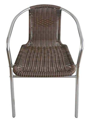 Papillon 8042013 - Silla terraza Ratan, aluminio,  color marrón