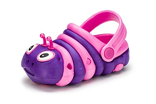 KREXUS Raupe Kinder Clogs Gartenschuhe Pink-Violett Gr. 21 EU WL00602-21