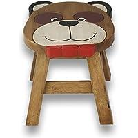 ART-CRAFT KH054 Kinderhocker Holz Schemel mit Tiermotiv Bär und beschnitzt Höhe 27 cm - preisvergleich