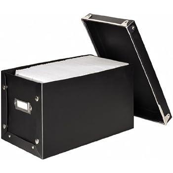 hama 17450 boite de rangement en bois pour 260 cd dvd expresso fournitures de bureau. Black Bedroom Furniture Sets. Home Design Ideas