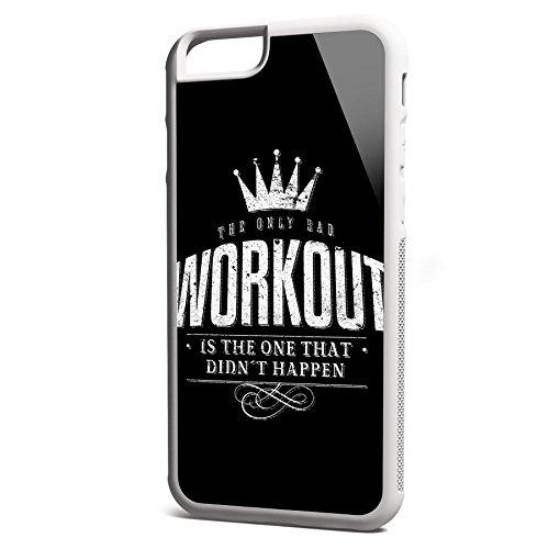 Smartcover Case The only bad Workout z.B. für Iphone 5 / 5S, Iphone 6 / 6S, Samsung S6 und S6 EDGE mit griffigem Gummirand und coolem Print, Smartphone Hülle:Samsung S6 EDGE weiss Iphone 6 / 6S weiss