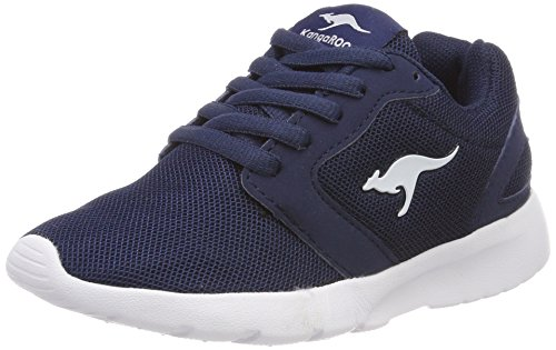 KangaROOS Unisex-Kinder Nihu Sneaker, Blau (Navy/White), 29 EU