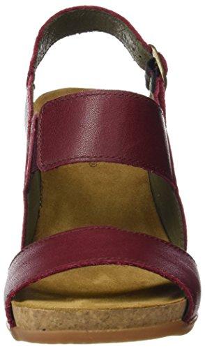 El Naturalista Damen N5020 Ibon Kuna Hohe Absätze mit Offenen Zehen Rot (Rioja)