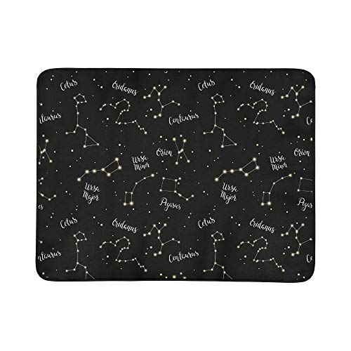 EIJODNL Constellations Orion Ursa Major Portable and Foldable Blanket Mat 60x78 Inch Handy Mat for Camping Picnic Beach Indoor Outdoor Travel -