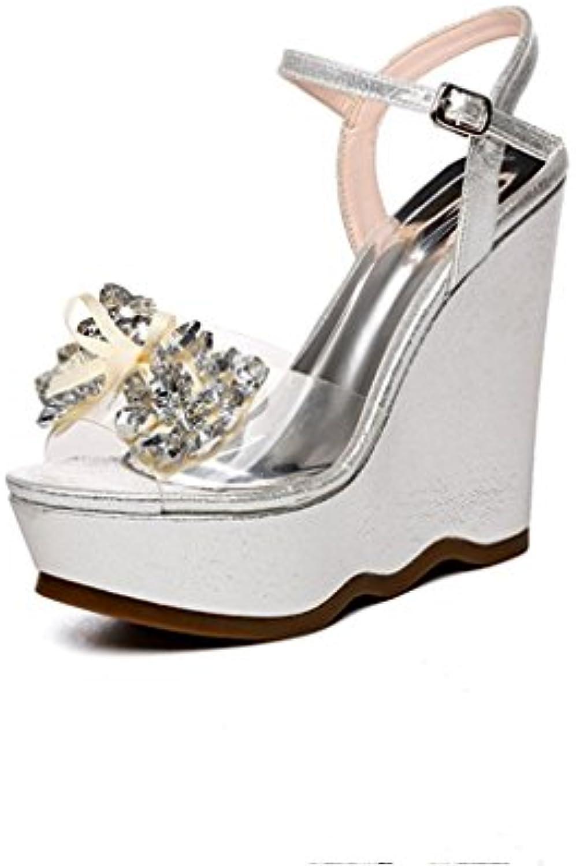 BaiLing Sandali di estate delle donne cunei tallone impermeabile Bowknot strass inferiore scarpe femmina di piccole... | Outlet Store Online  | Uomini/Donna Scarpa