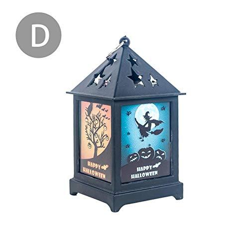 Foliner LED-Lampe Castle Pumpkin Graveyard Spooky Halloween Decorative Light Decor