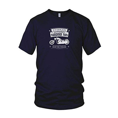 Ich Bin EIN Motorrad Fahrender Papa - Herren T-Shirt, Größe: XXL, dunkelblau