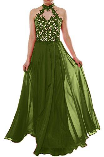 MACloth - Robe - Trapèze - Sans Manche - Femme Vert - Vert olive