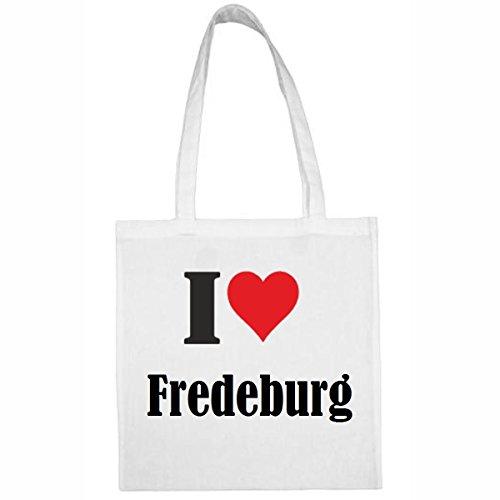 """Tasche""""I Love Fredeburg""""Größe""""38x42""""Farbe""""Weiss""""Druck""""Schwarz"""