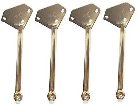 BCX Gold Sofa Beine, Schrank Beine, Titan Bevel, Diy Hardware Möbelzubehör, Erhöhte Möbelbeine (4 Stück) für Schränke, Couchtische, Badezimmerschränke, Etc. 25Cm, 35Cm,25cm